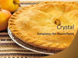 5000 apple pie powerpoint templates w apple pie themed backgrounds beautiful slide deck featuring whole apple pie with apples backdrop and a yellow colored foreground toneelgroepblik Choice Image