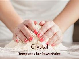 5000 yeast powerpoint templates w yeast themed backgrounds amazing slide deck having woman kneading dough for backdrop and a lemonade colored toneelgroepblik Gallery