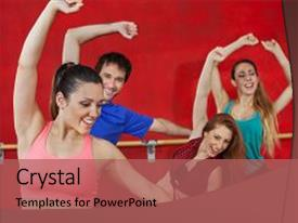 200 zumba powerpoint templates w zumba themed backgrounds audience pleasing slide set consisting of troupe woman practicing with friends backdrop toneelgroepblik Gallery