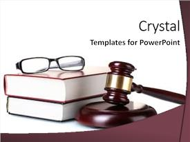 Colorful theme enhanced with wooden gavel glasses and books backdrop and a white colored foreground
