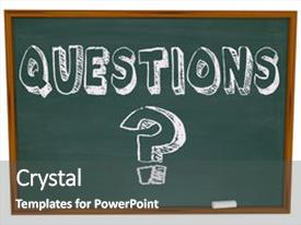 Amazing presentation design having word questions and the question backdrop and a dark gray colored foreground.