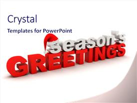 Audience pleasing PPT theme consisting of words season s greetings backdrop and a sky blue colored foreground.