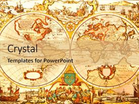 4000 antique world map powerpoint templates w antique world map amazing presentation theme having world antique map an antique backdrop and a yellow colored foreground gumiabroncs Gallery