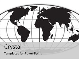 Slide set consisting of world map 2 in black background and a light gray colored foreground.