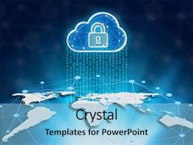 5000 cyber world powerpoint templates w cyber world themed backgrounds presentation theme having world map and cloud on a technology background cyber security data protection business toneelgroepblik Images