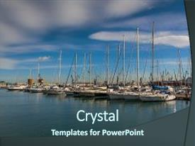 3000 2007 powerpoint templates w 2007 themed backgrounds ppt layouts featuring valencia yacht club of castellon background and a ocean colored foreground toneelgroepblik Images