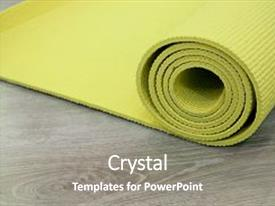 PPT theme consisting of floor to perform meditation exercise background and a gray colored foreground