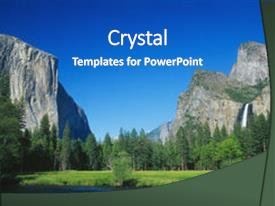 Cool new presentation theme with yosemite valley yosemite national park backdrop and a teal colored foreground.