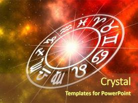 Horoscope powerpoint templates ppt themes with horoscope backgrounds presentation with zodiac signs inside of horoscope background and a tawny brown colored foreground toneelgroepblik Image collections