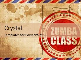 200 zumba powerpoint templates w zumba themed backgrounds ppt layouts featuring airmail zumba class red grunge stamp background and a coral colored foreground toneelgroepblik Gallery