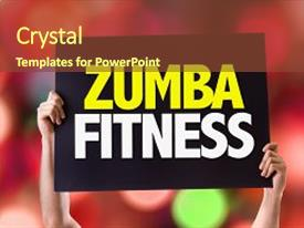 200 zumba powerpoint templates w zumba themed backgrounds audience pleasing presentation design consisting of fitness card with bokeh backdrop and a toneelgroepblik Gallery