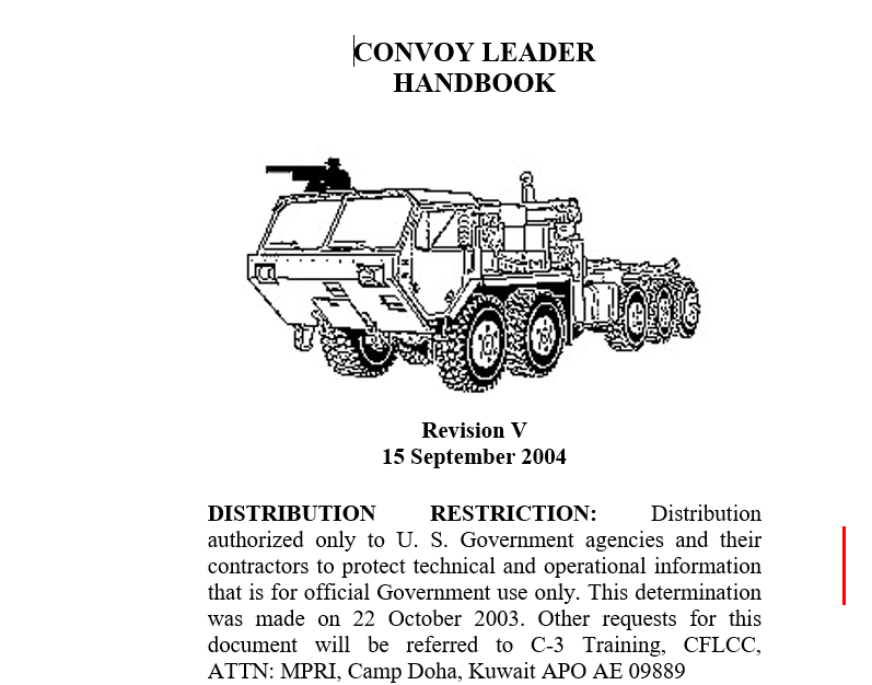 Convoy Leaders Handbook, Rev. 5