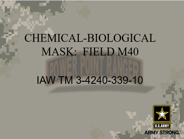 PMCS M40 Protective Mask Version II