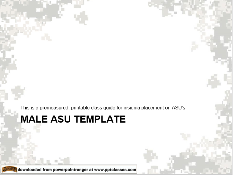 A power point class on ASU insignia placement template