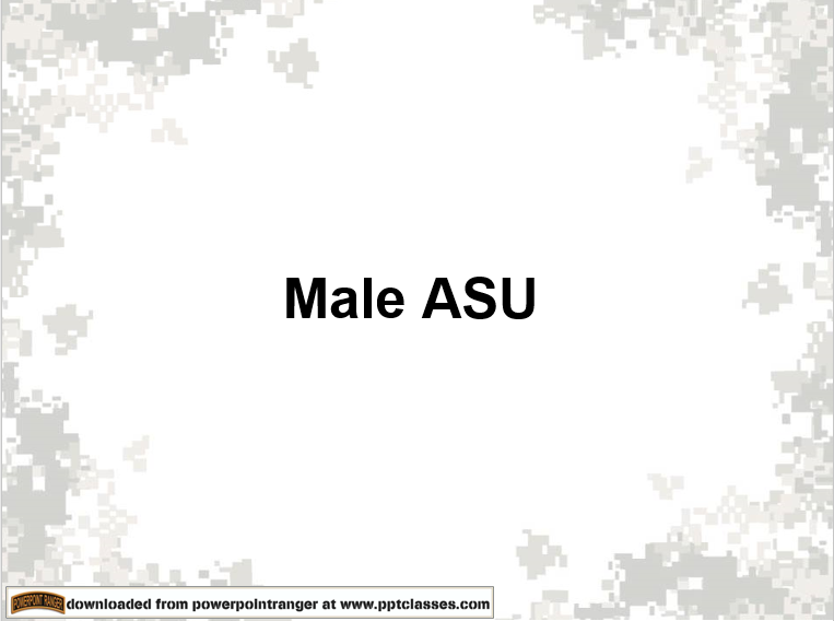 A power point class on a guide for male ASU