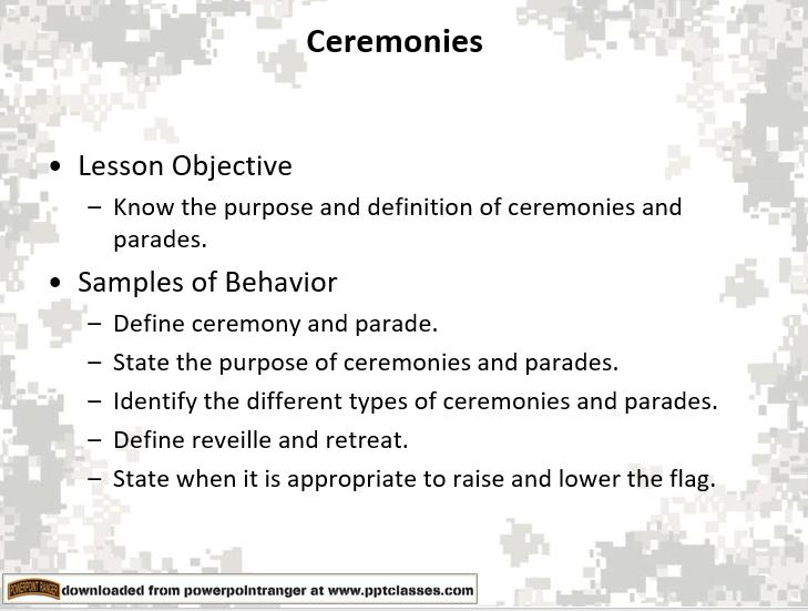 Drill Ceremonies Class 2