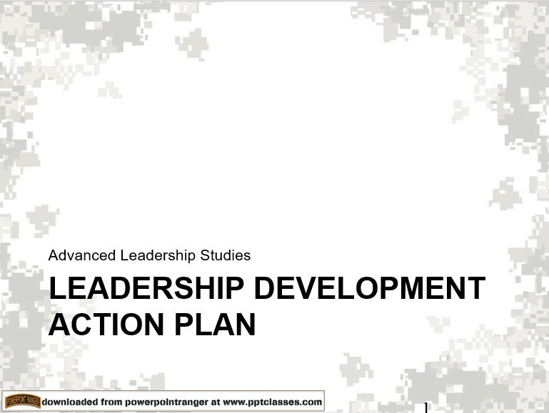 Develop an Action Plan, (Leadership)