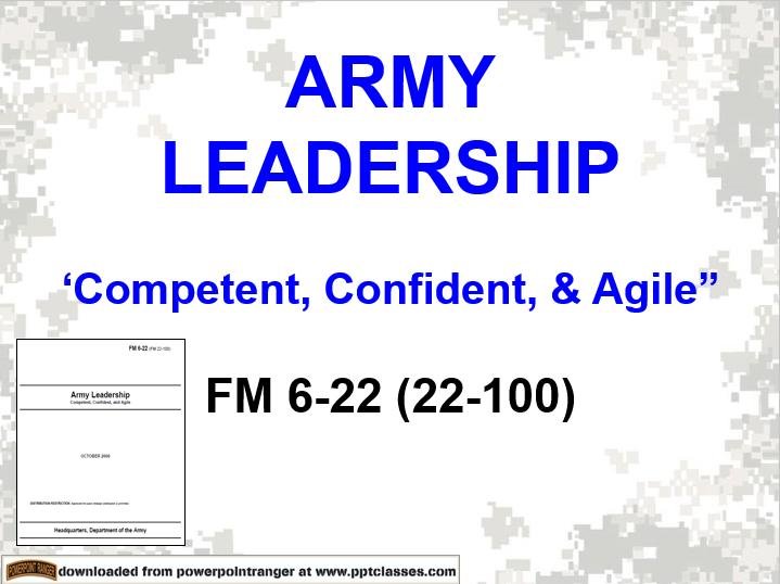 Army Leadership FM 6-22