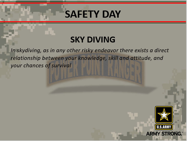 Sky Diving Safety Briefing