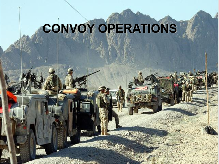 Convoy Operations at the Squad