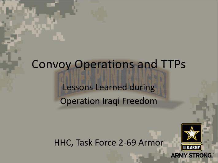 Convoy TTPs