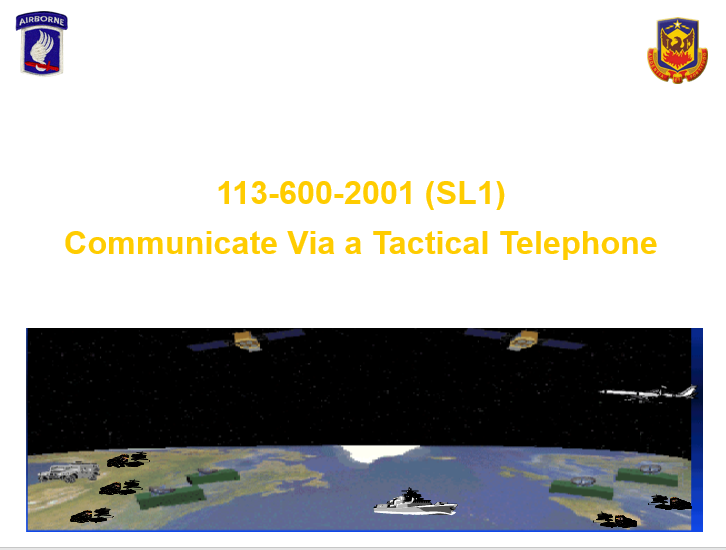 Communicate via Tactical Telephone