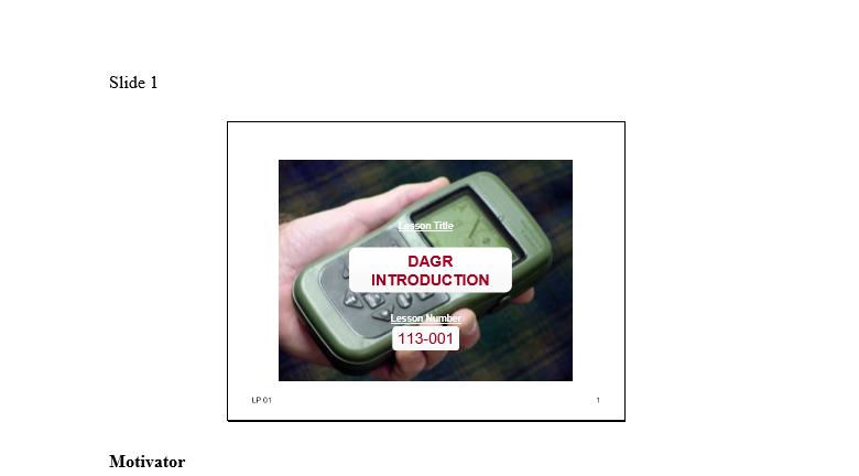 DAGR Introduction