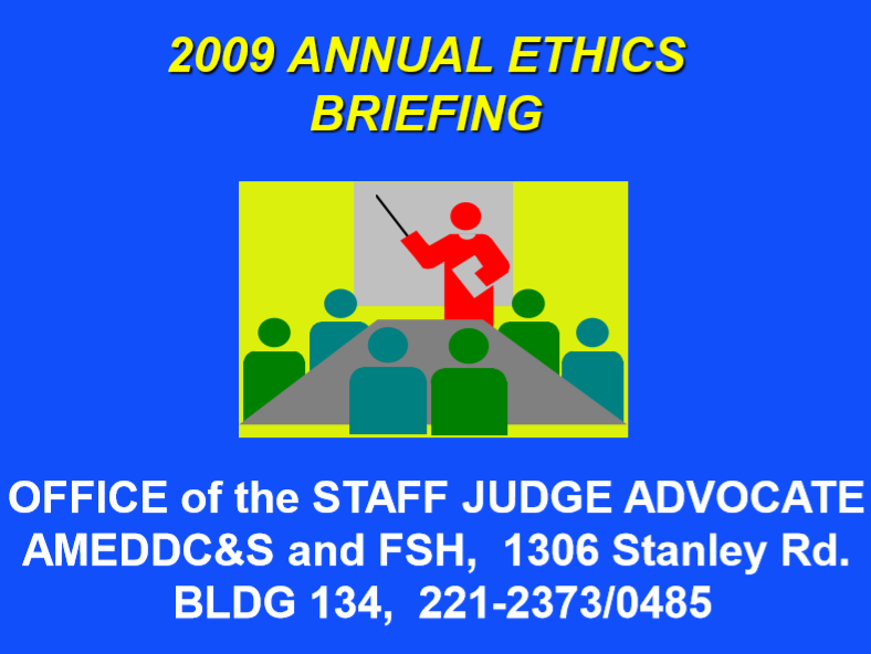 Annual Ethics Briefing