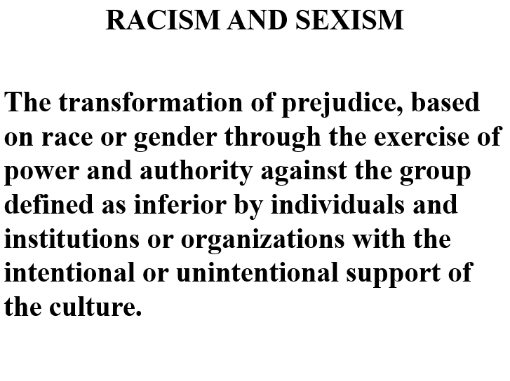 EO - Racism and Sexism