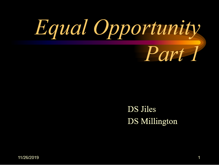 Equal OpportunityArchive