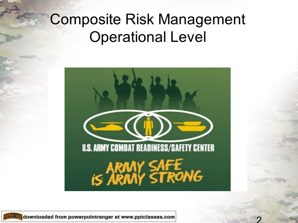 Composite Risk Management – Operational Level (CRMOL)