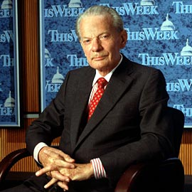 David Brinkley American TV News Icon