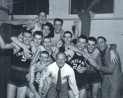 1954 Milan Indians Basketball Team The Real Hoosiers