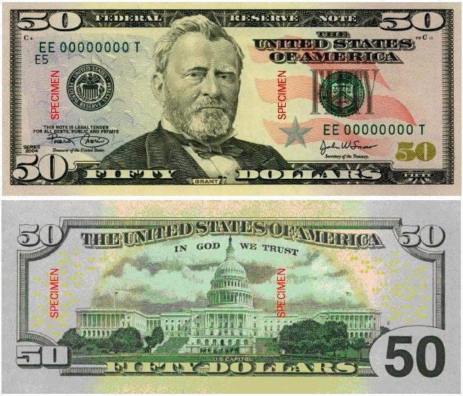 Famous Faces on American Currency
