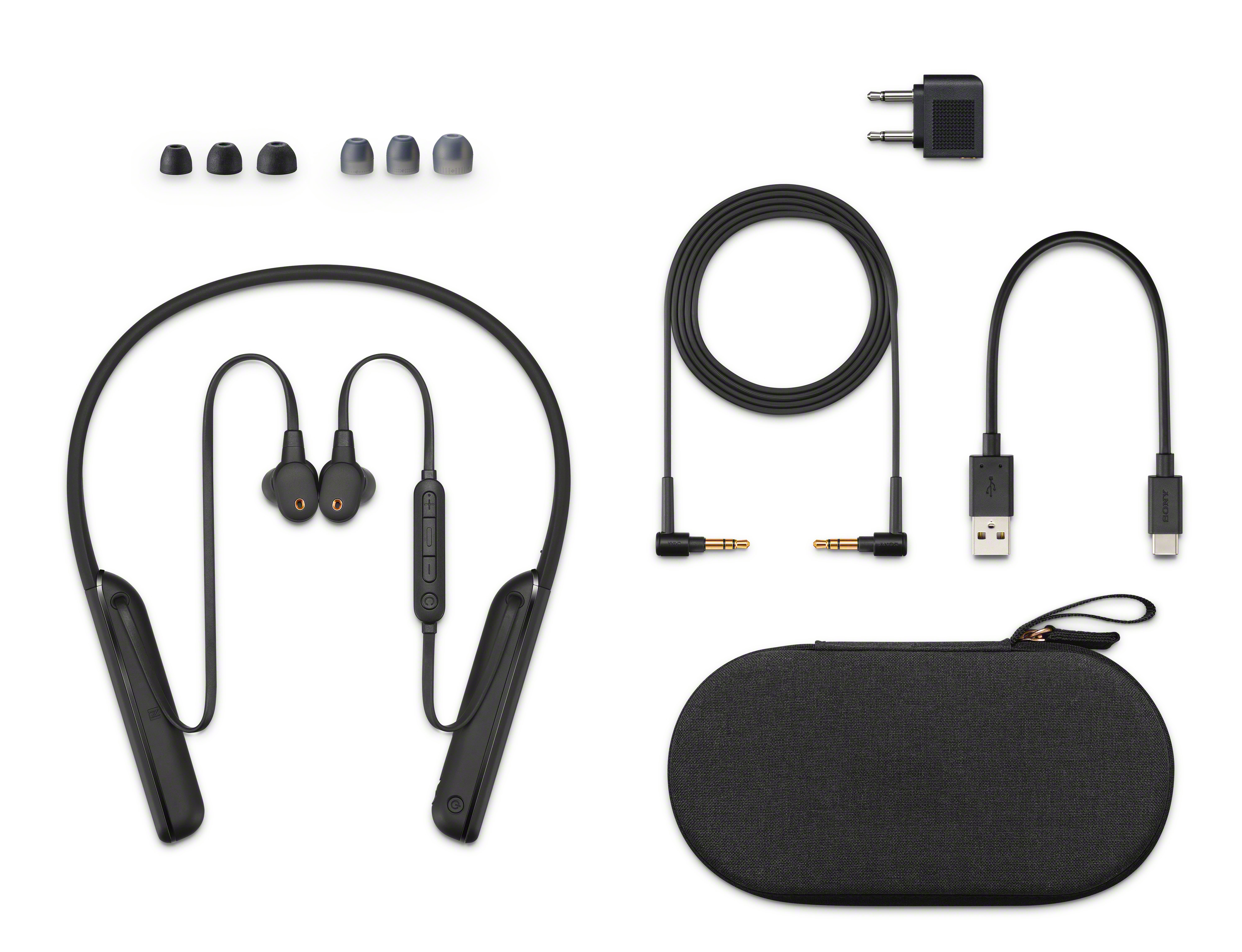 Cancel out the commotion around you thanks to  Sony's new WI-1000XM2 neckband headphones  with Industry-leading Noise Cancellation