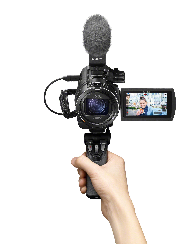 FDR-AX43_GP-VPT1_ECM-B1M_selfie_hand