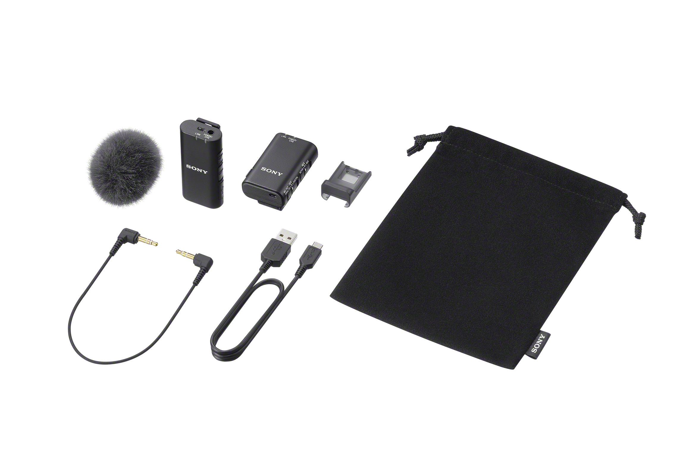 Sony Electronics Announces the ECM-W2BT Wireless Microphone  and the ECM-LV1 Compact Stereo Lavalier Microphone