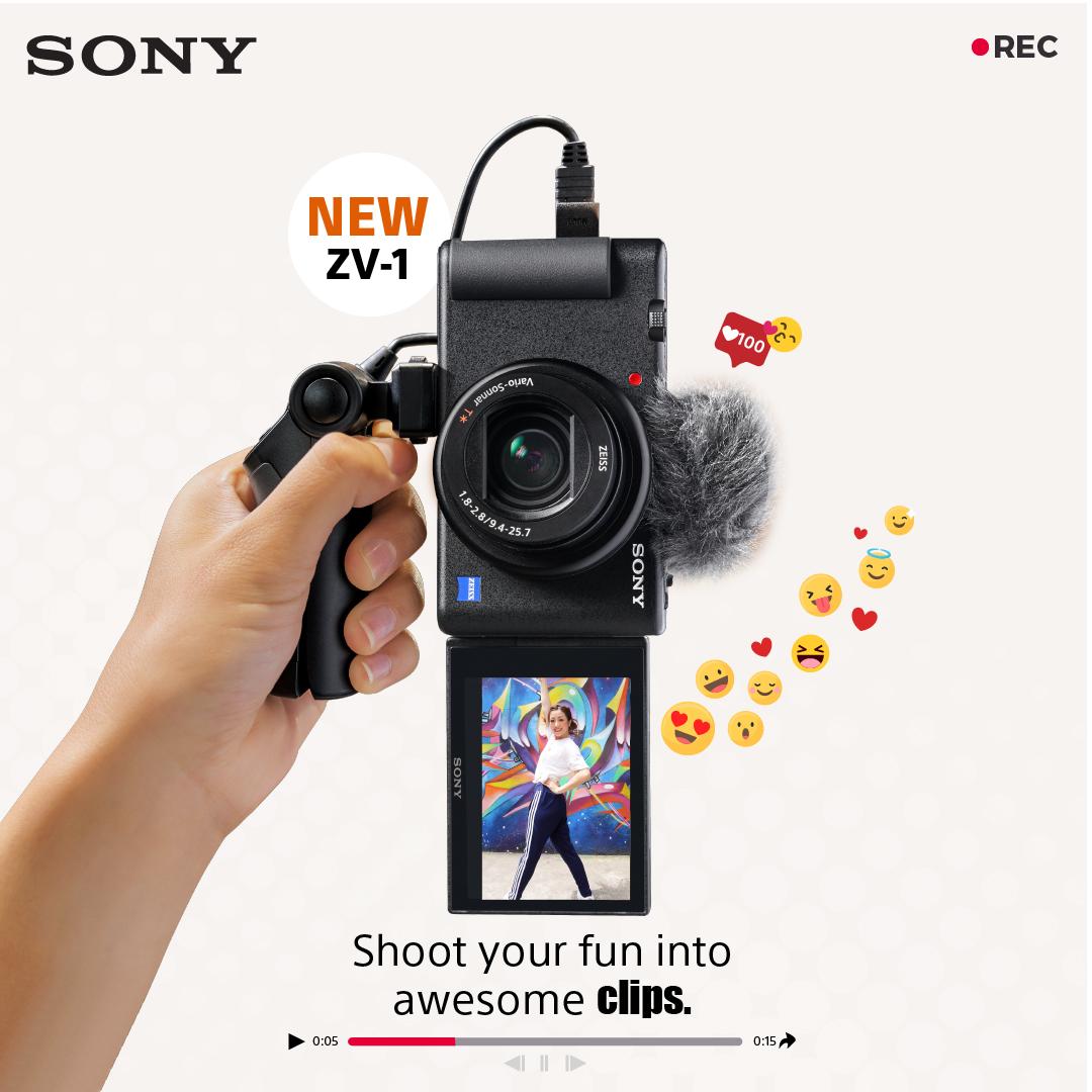 โซนี่ไทยส่งกล้องคอมแพ็คท์ ZV-1 ด้วยดีไซน์ใหม่ล่าสุด ตอบโจทย์มือใหม่ถ่ายวิดีโอได้รวดเร็วทันใจเพียงปลายนิ้ว อัดแน่นเทคโนโลยีสุดล้ำเพื่อการถ่ายภาพนิ่ง และวิดีโอครบครันในเครื่องเดียว