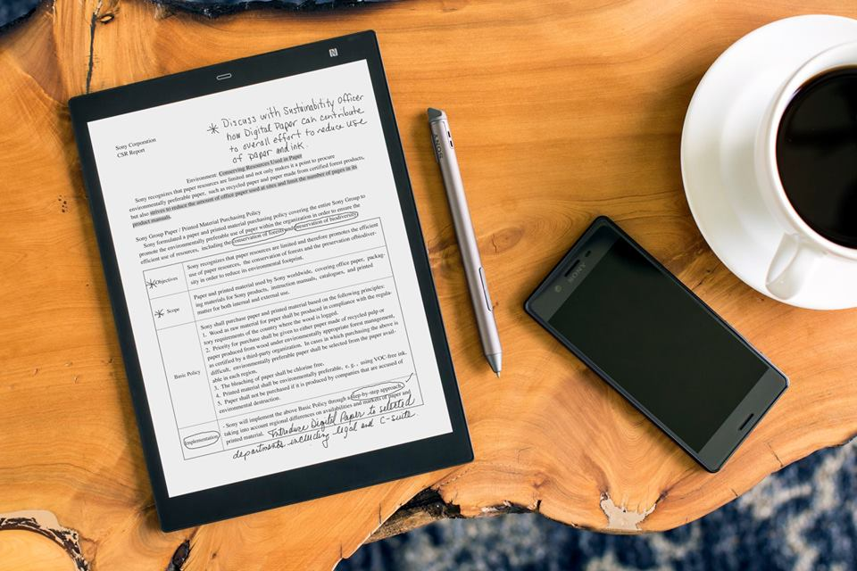 Sony adds 10-inch notebook-sized model, a new mobile app, and feature enhancements to Digital Paper line-up