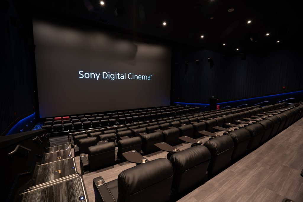 Sony Digital Cinema PLF auditorium at Galaxy Boulevard Mall in Las Vegas