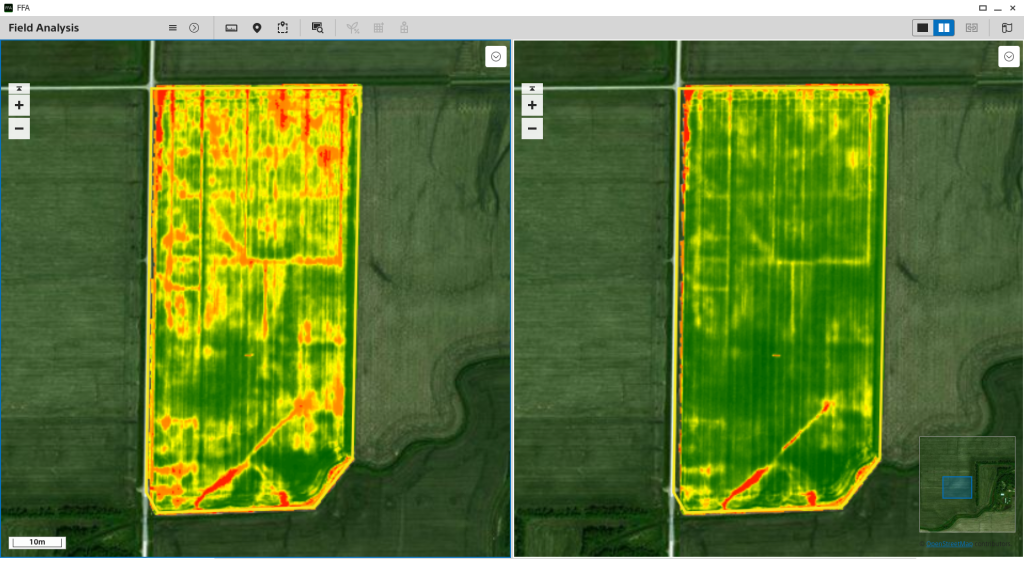 Sony Smart Agriculture Solution NDVI Map