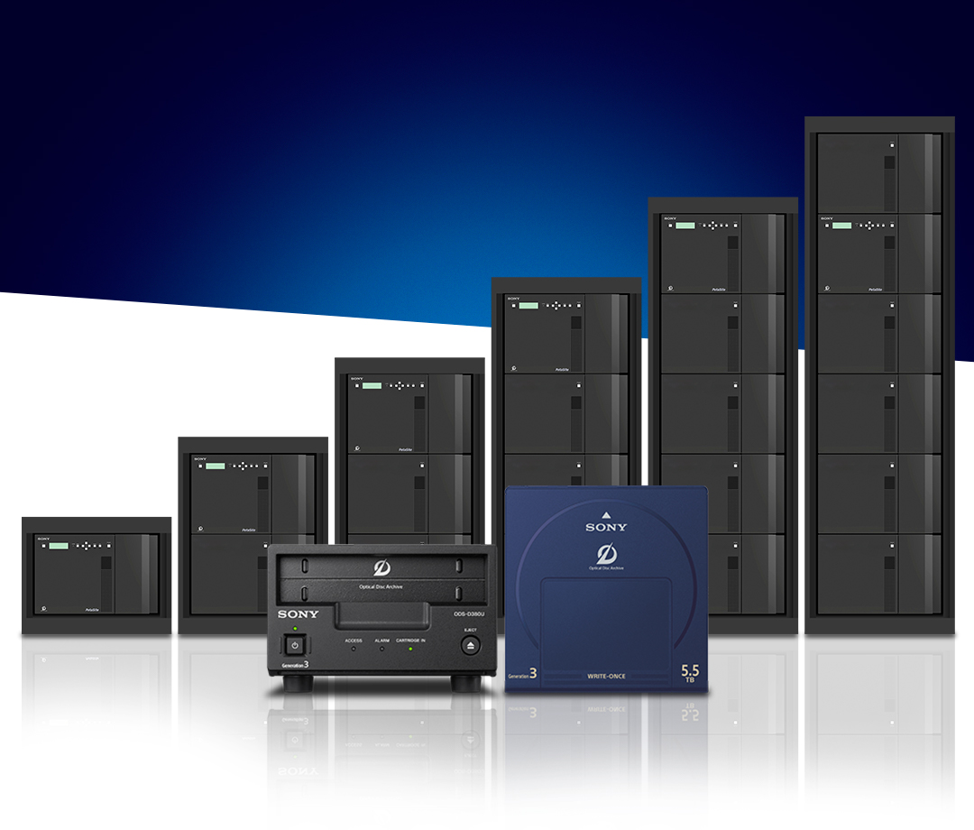 Sony Launches Generation 3 PetaSite Optical Disc Archive Library with 66 Percent Greater Capacity and 50 Percent Improvement in Archive Performance Versus Previous Generation