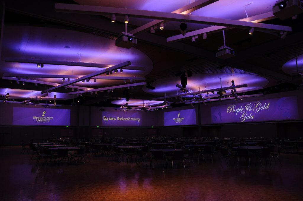 MNSU CSU Ballroom uses Sony's Laser Projectors