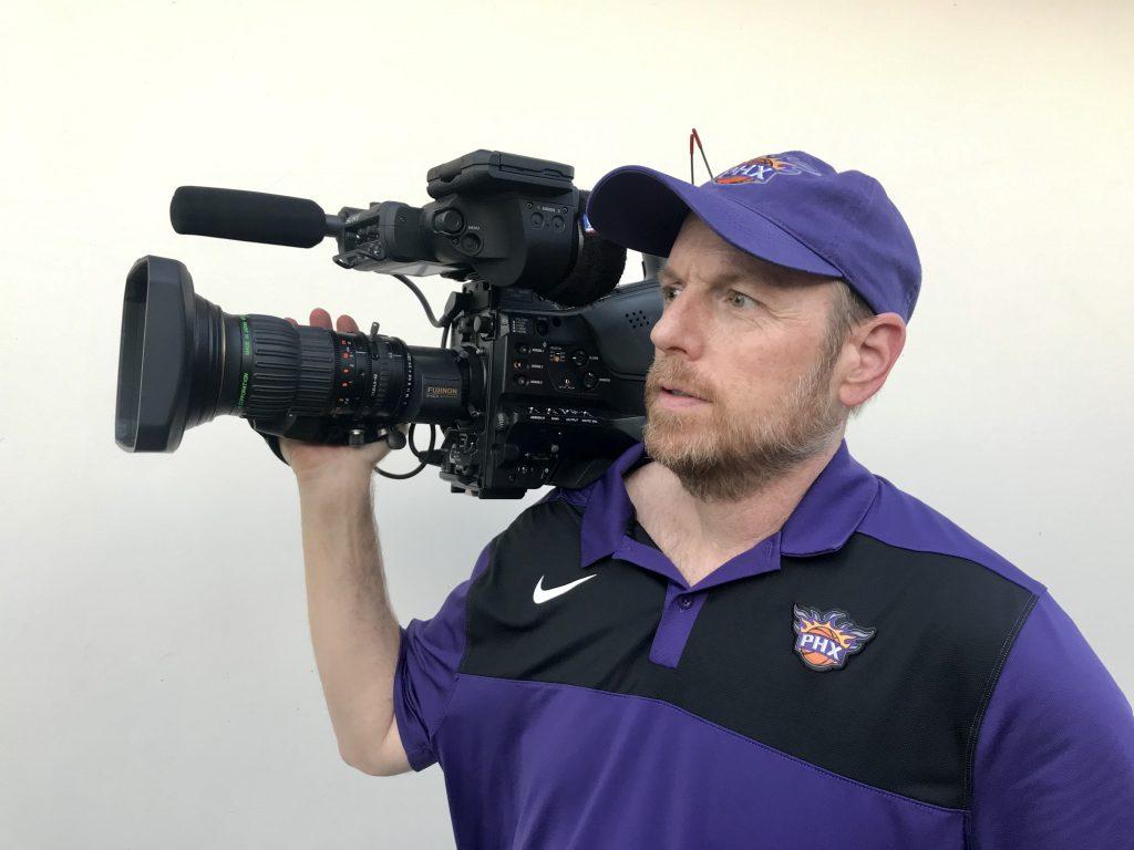 David Grapentine, Senior Videographer, Phoenix Suns, PXW-Z750