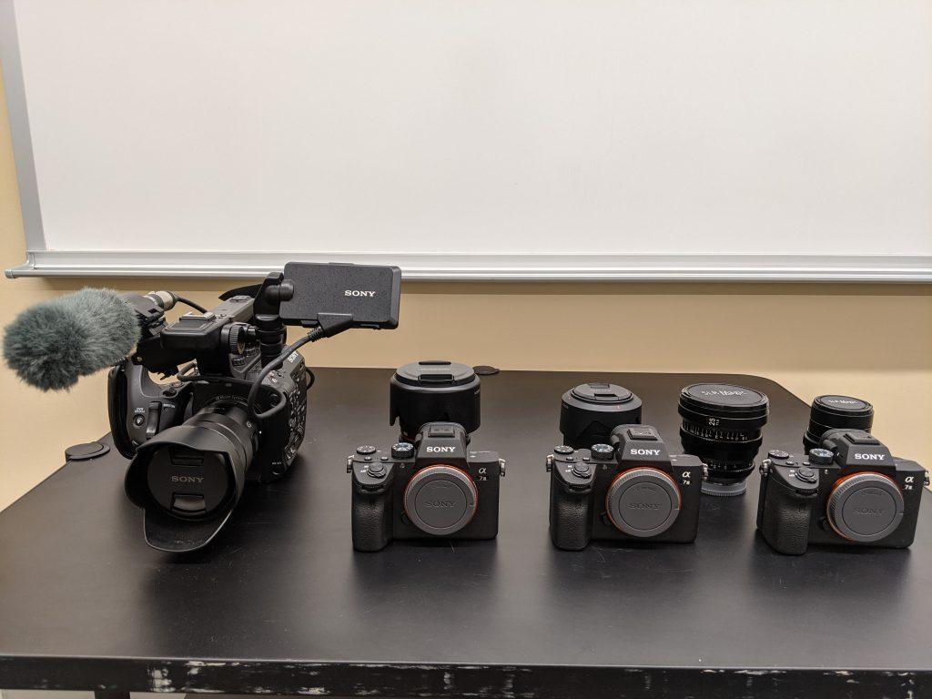 sony mirrorless and cinema cameras at Monomoy Regional High School