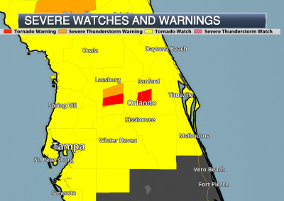 Tornado Watch with Warnings