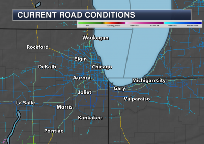 Praedictix Weather Graphics - Chicago Road Conditions