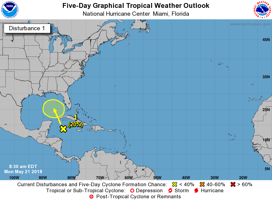 NHC Tropical Weather Outlook
