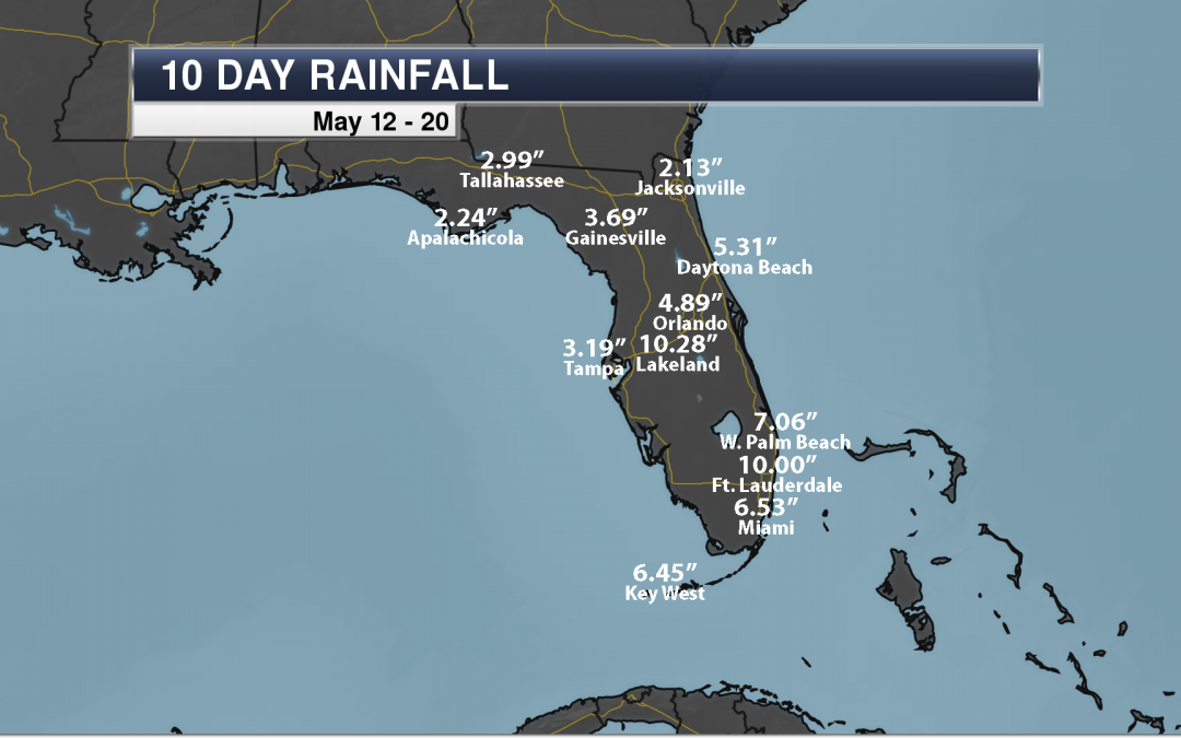 Florida Heavy Rain: Over Ten Inches Of Rain In The Past Ten Days
