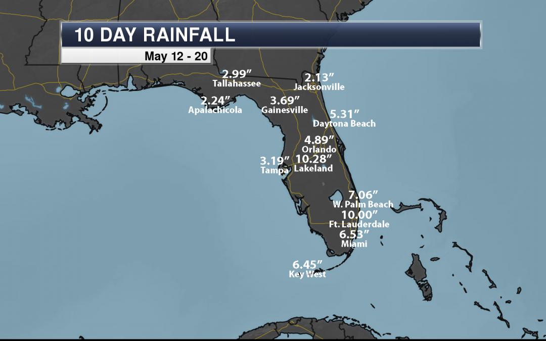 Florida Heavy Rain: Over Ten Inches Of Rain In The Past Ten Days